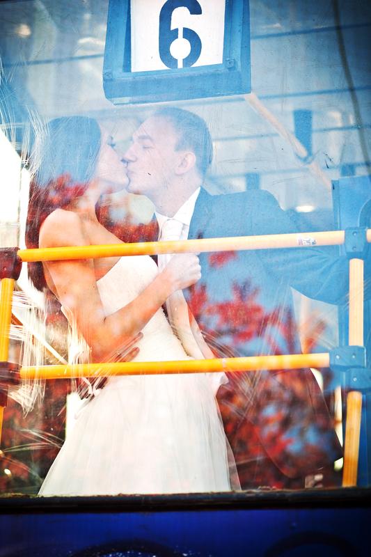 Plener ślubny w tramwaju Bydgoszcz