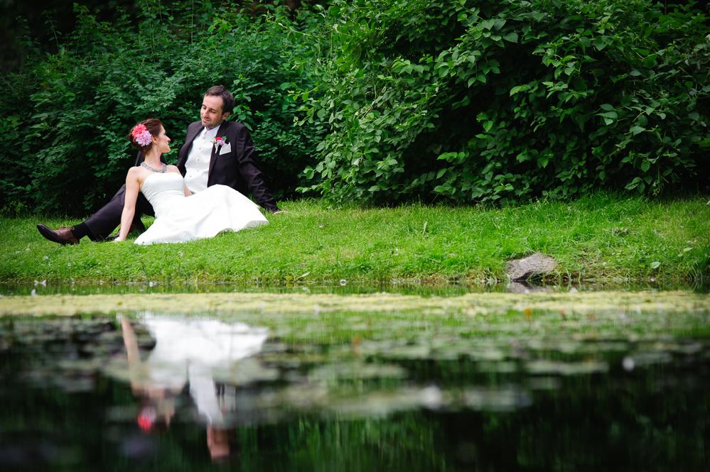 Sesja ślubna nad jeziorem Grudziądz