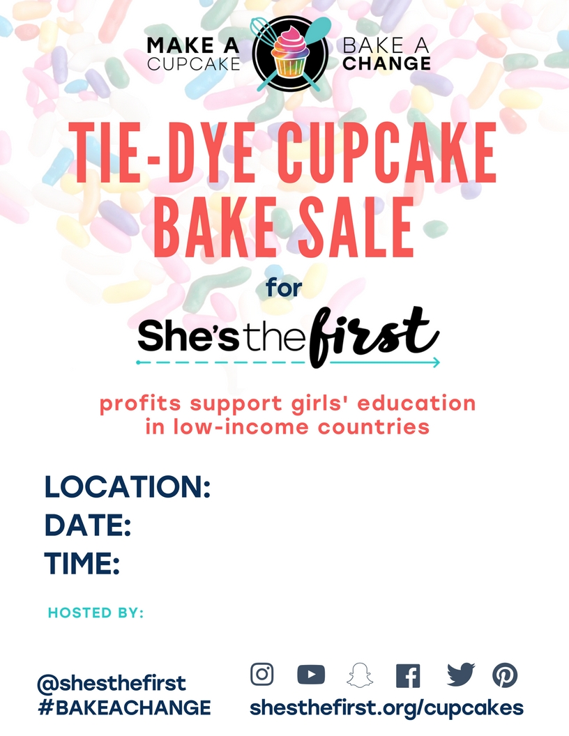 Advertising your bake sale is key! Here's a flyer to get you started.