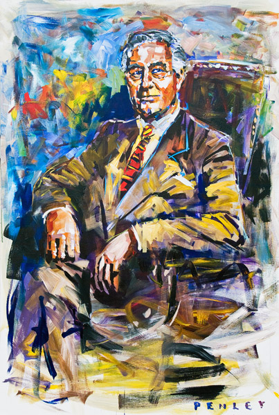 Steve Penley FDR acrylic on canvas 48 x 72 inches