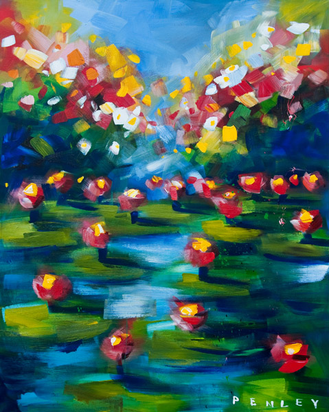 Steve Penley Lily Pads acrylic on canvas 48 x 60 inches
