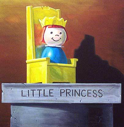Jonathan Fenske   Little Princess   limited edition print  14 x 14 inches