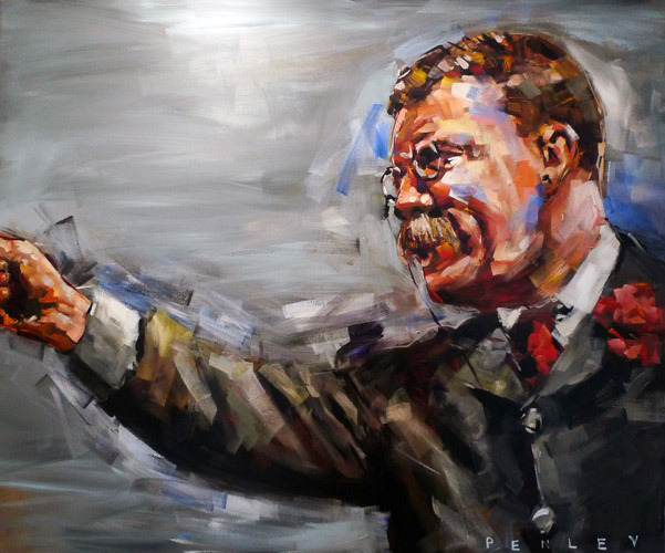 Steve Penley   Teddy Roosevelt   acrylic on canvas  72 x 60 inches