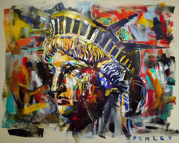 Steve Penley   Liberty 2   acrylic on canvas  60 x 48 inches