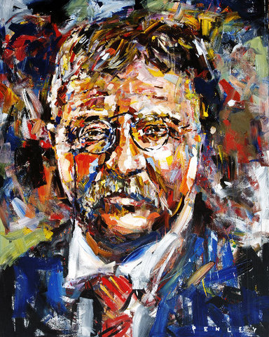 Steve Penley Teddy Roosevelt giclee print & acrylic on paper    16 x 20 inches unframed  |  edition of 125