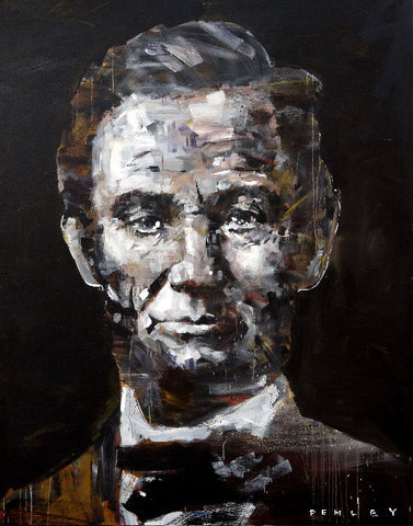 Steve Penley Lincoln giclee print & acrylic on paper    22 x 30 inches unframed  |  edition of 125