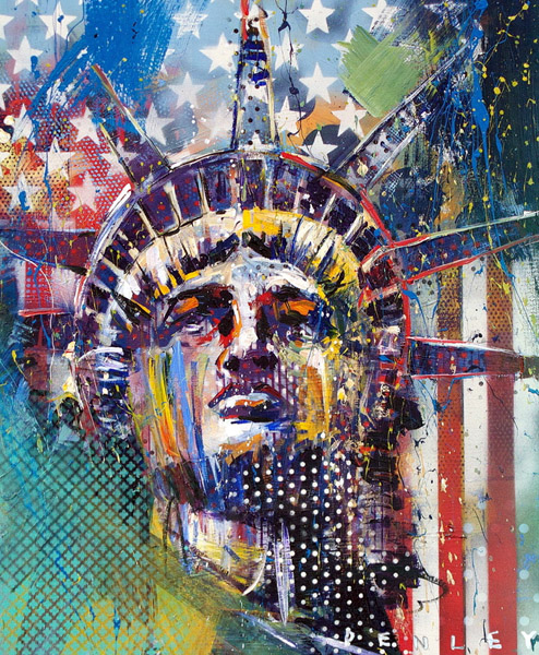 Steve Penley  Liberty 2  giclee print & acrylic on paper    16 x 20 inches unframed  |  edition of 50