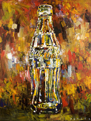 Steve Penley Coke Bottle 2 giclee print & acrylic on paper   16 x 20 inches unframed  |  edition of 125 18 x 24 inches unframed  |  edition of 85 22 x 28 inches unframed  |  edition of 50