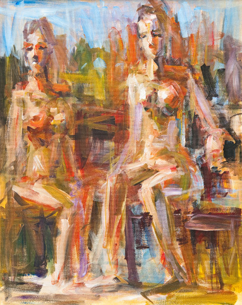 Steve Penley   Two Nudes  acrylic on canvas 14 x 18 inches 20 x 24 inches framed   3500. framed