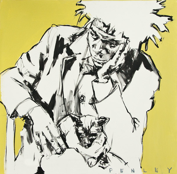 Steve Penley   Jean-Michel Basquiat No. 2  acrylic on canvas 36 x 36 inches   7500.