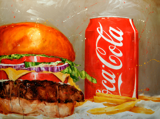 Scott French   The Juicy Classic  oil on panel 36 x 48 inches