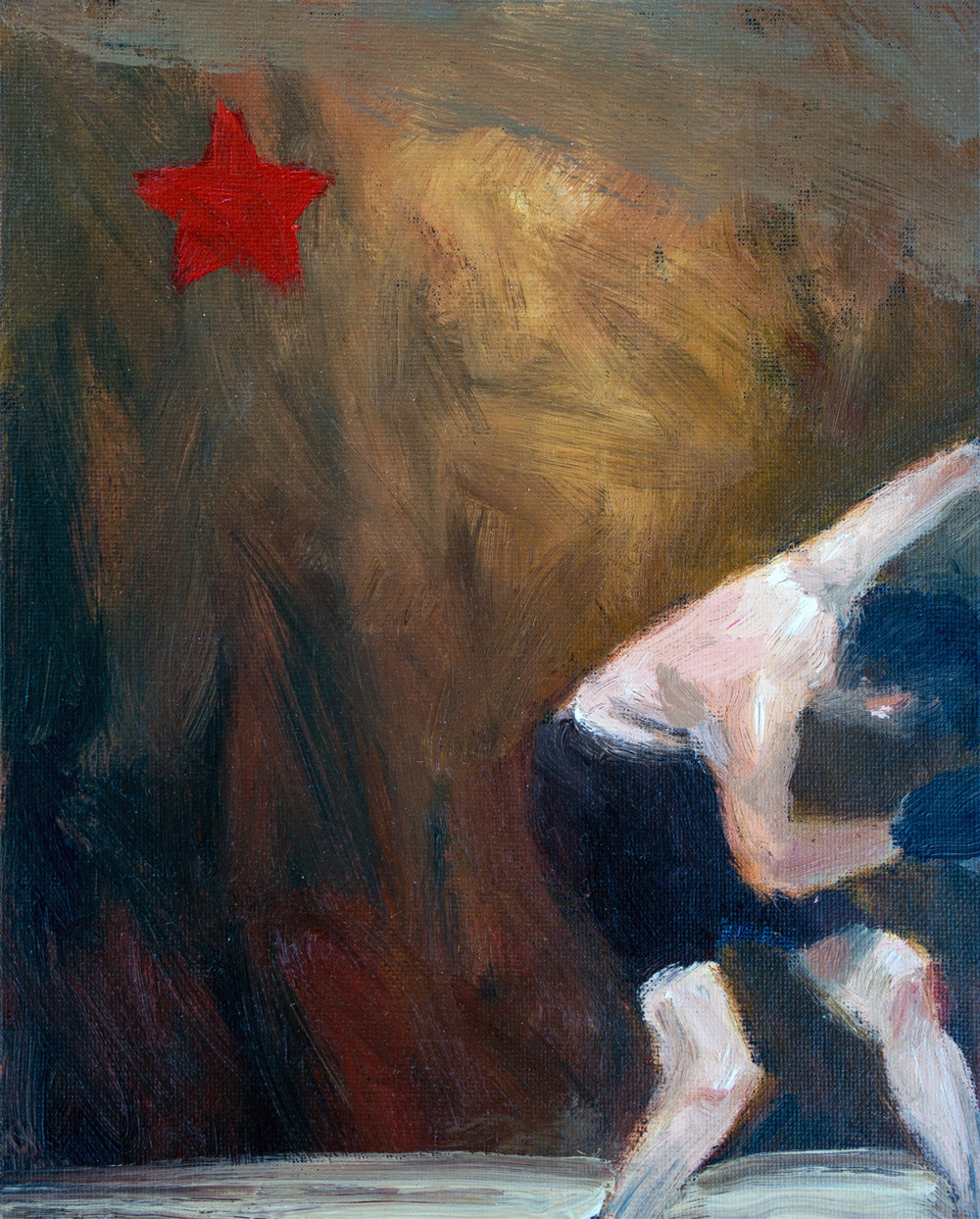Seeing Stars No. 2<br> acrylic on canvas<br>10 x 8 inches