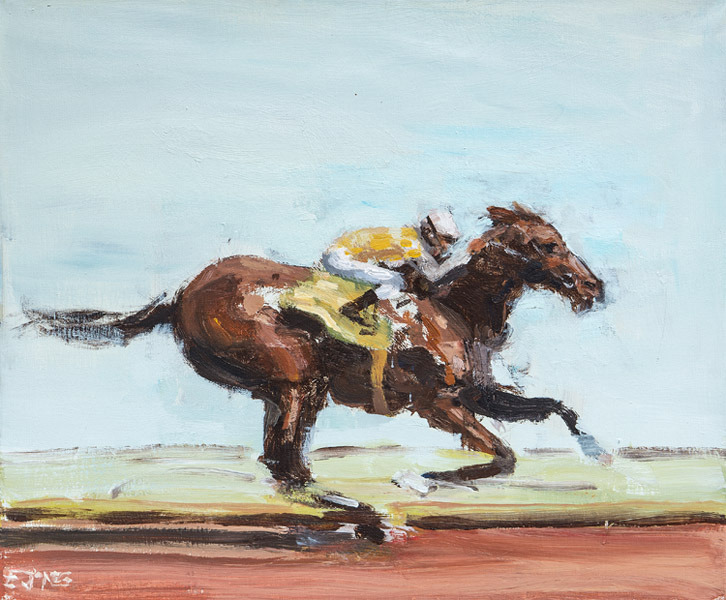 Painted Rider<br>acrylic on canvas<br>20 x 24 inches