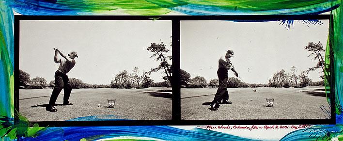 Tiger Woods #5 Bay Hill Club, , 2001 Orlando, FL gelatin silver print w/ acrylic