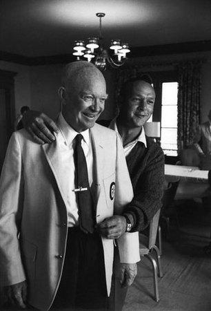 Ike & Arnie, Laurel Valley GC, Ligonier, PA, 1965 PGA Championship
