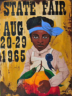Cedric Smith   State Fair acrylic & collage on canvas 40x30 inches