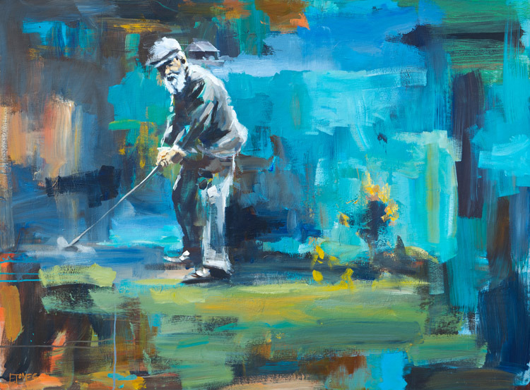 Evan Jones   Old Tom Morris  acrylic on canvas 48 x 36 inches (SOLD)