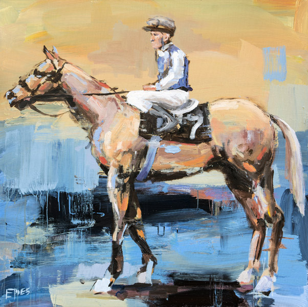 Evan Jones   Painted Rider No. 1  acrylic on canvas 40 x 40 inches (SOLD)