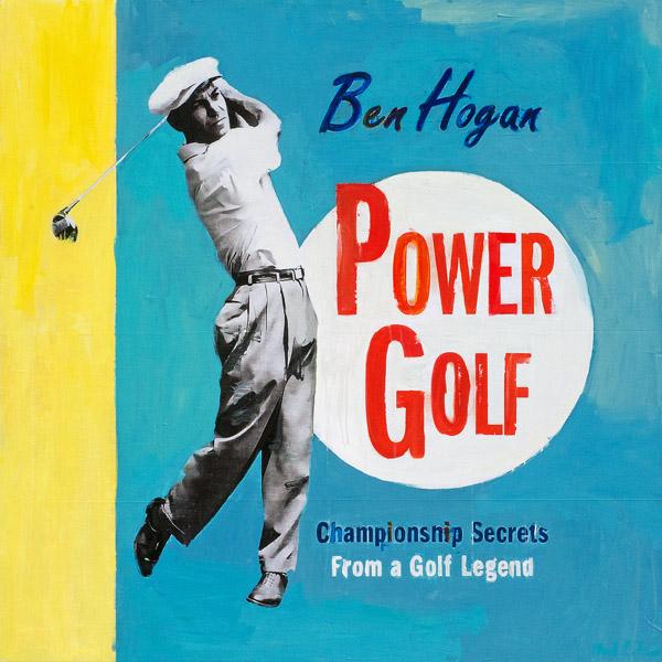 PLAID COLUMNS    Ben Hogan Power Golf  mixed media on panel 48 x 48 inches $4800
