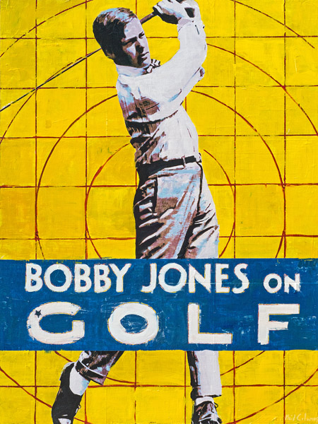 Bobby Jones<br>mixed media on panel<br>48 x 36 inches