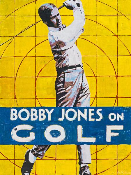 PLAID COLUMNS    Bobby Jones On Golf  mixed media on panel 48 x 36 inches $4600