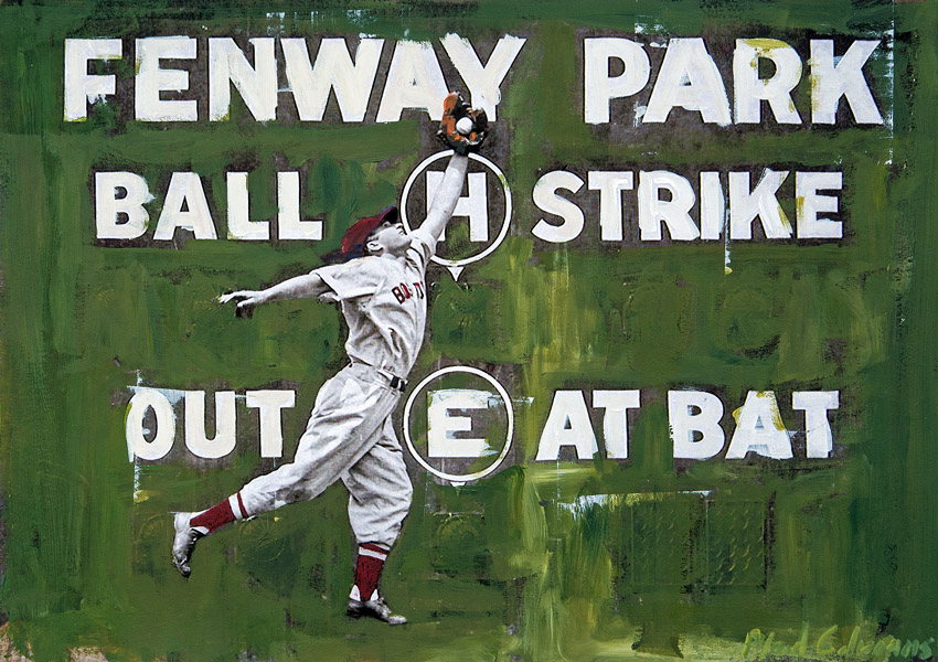 Fenway Park<br>mixed media on paper<br>13 x 19 inches