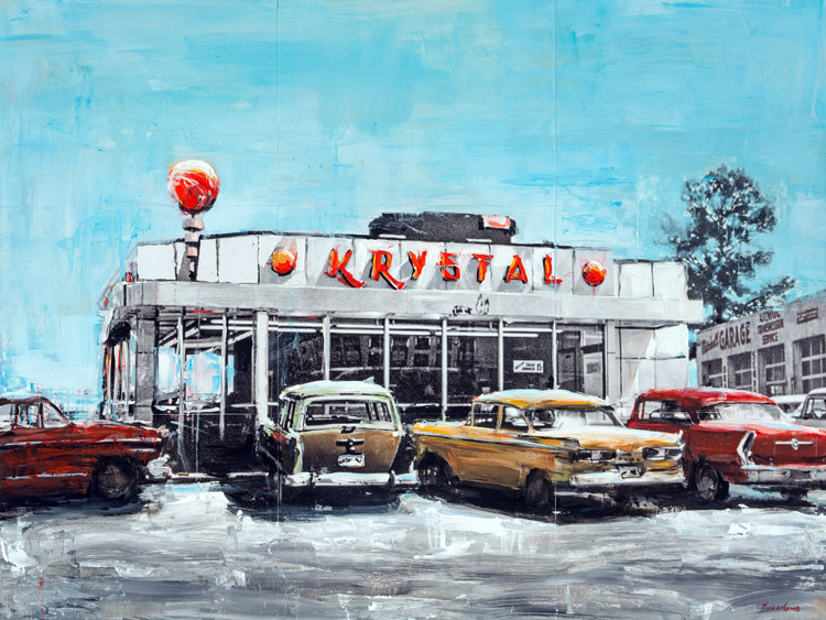 Vintage Krystal<br>mixed media on panel<br>11 x 16 inches