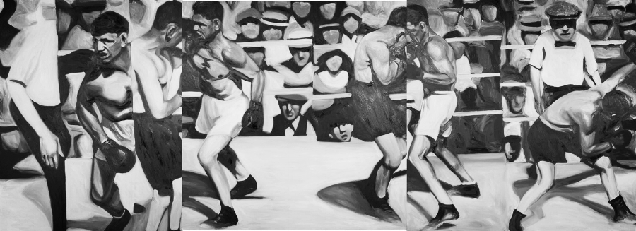 Guernica<br>oil on panel<br>45 x 135 inches<br>SOLD