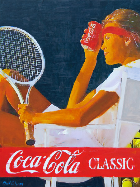 Classic Tennis<br>mixed media on panel<br>40 x 30 inches
