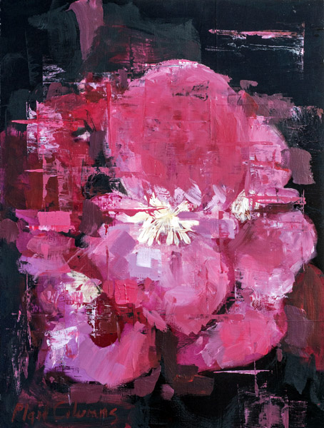 Flowers No. 4<br>mixed media on panel<br>24 x 18 inches
