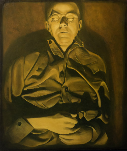 Nosferatu or Piss Hemler<br>oil on board<br>44 x 37 inches