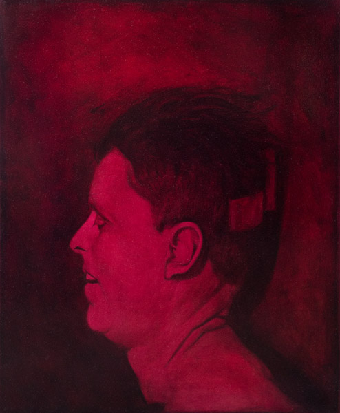 The Head of John F. Kennedy<br>oil on canvas<br>34 x 28 inches