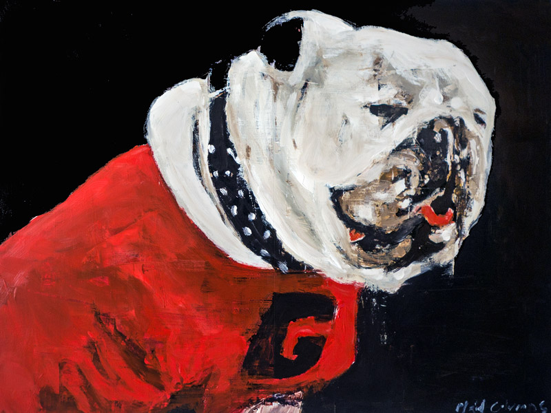 Uga II<br>mixed media on panel<br>18 x 24 inches
