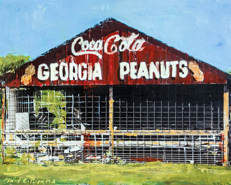 Georgia Peanuts<br>mixed media on panel<br>24 x 30 inches