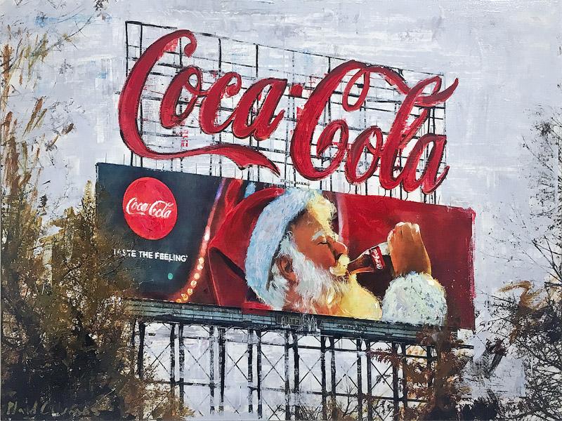 Atlanta Santa<br>mixed media on panel<br>18 x 24 inches