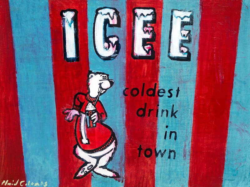 Icee<br>mixed media on panel<br>18 x 24 inches