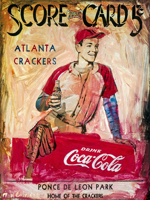 Coke & Crackers<br>mixed media on panel<br>24 x 18 inches