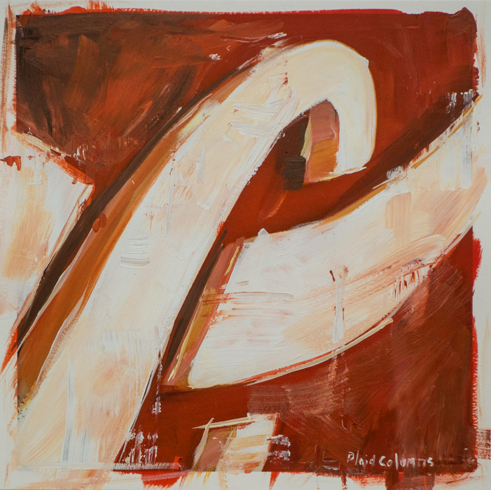 C is for Cola<br>mixed media on paper<br>10 x 10 inches