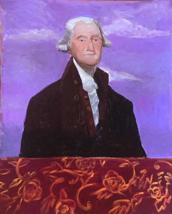 EVAN JONES   George Washington  acrylic on board 40 x 32 inches
