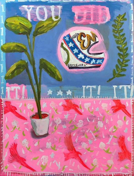 EVAN JONES   You Did It!  acrylic on canvas 40 x 30 inches