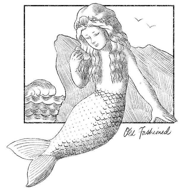 Old fashioned mermaid for MerMay 05/13/2016 #mermay