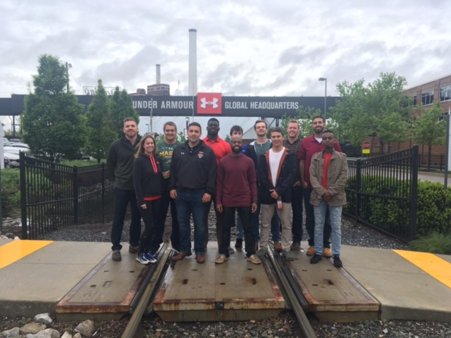 Spring 2017 Flag Star Interns during a private tour of the Under Armour campus in Baltimore.