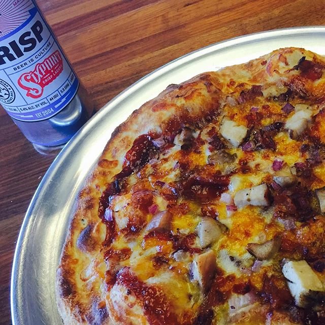Even Italians can appreciate great barbecue....as long as it's in pizza form! Our BBQ Chicken Pizza perfectly combines Sweet Baby Ray's BBQ sauce with cheddar and mozzarella cheeses, grilled chicken, crispy bacon and sweet red onions on a crispy, artisan crust. This could be the perfect way to start your weekend!