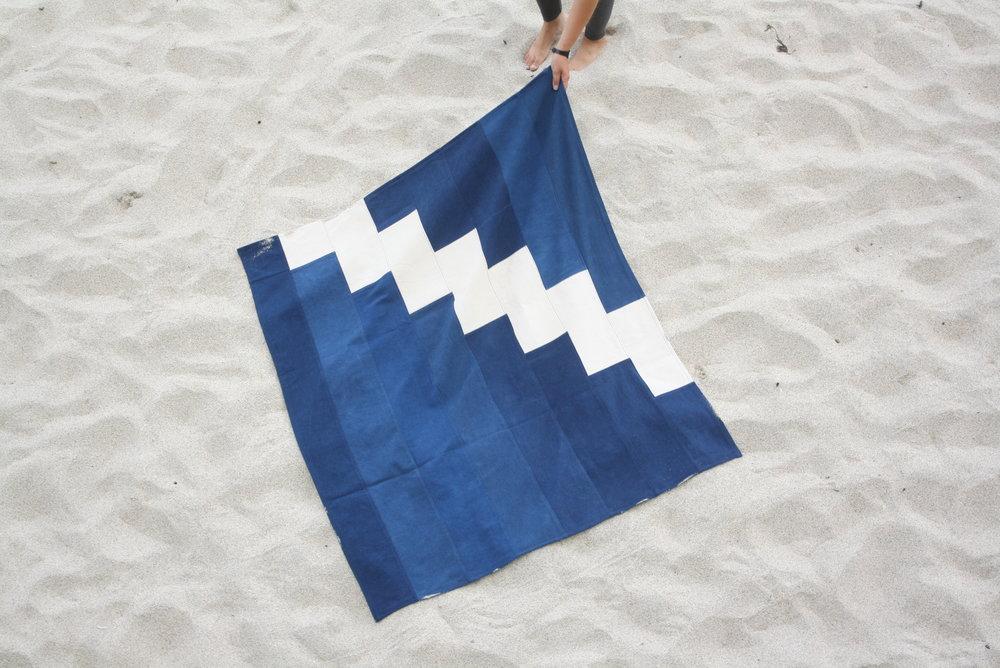 sarah johnson cabbage blue indigo clothing cast cornwall folklore serpentine indigo mats
