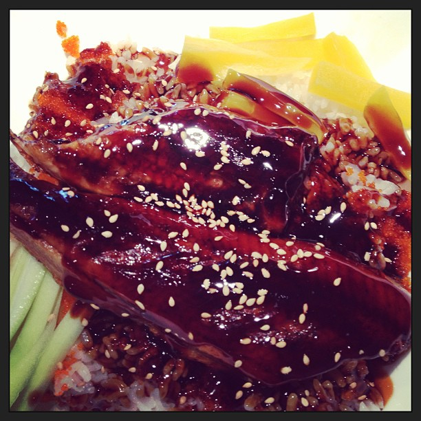 Try our unagi (eel) dinner! Comes with a miso soup and house salad. #mikimotosushi #mikimotosushinola