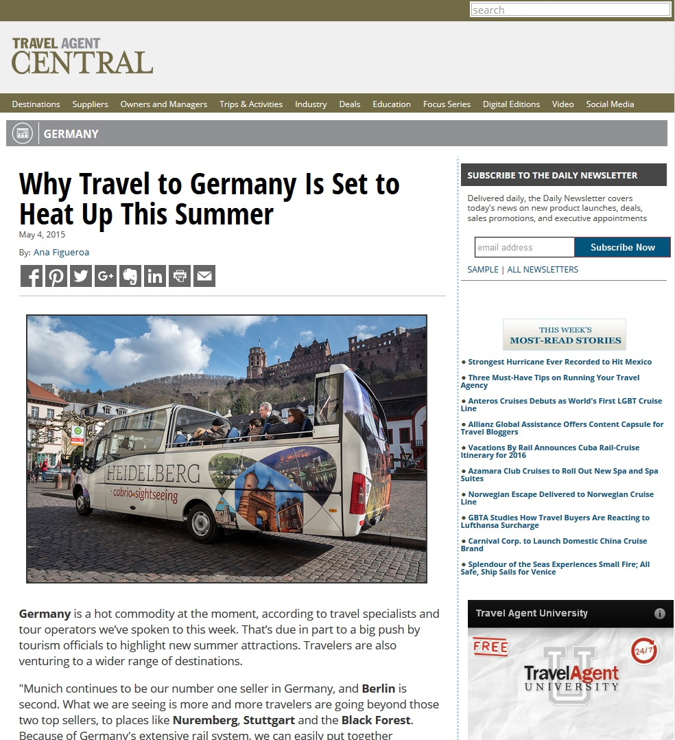 Travel Agent Central-Why Travel to Germany Is Set to Heat Up This Summer