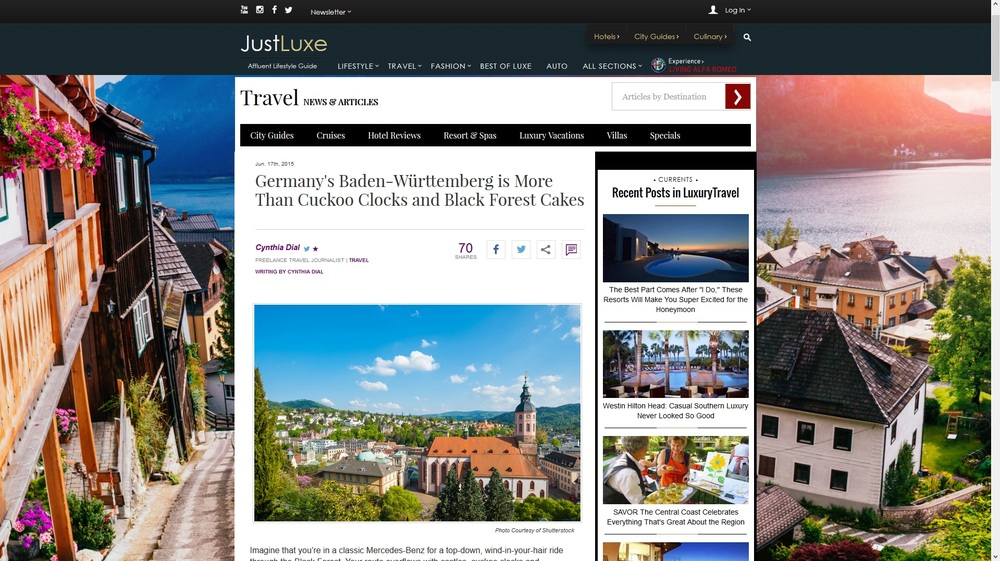 JustLuxe-Germany's Baden-Württemberg is More Than Cuckoo Clocks and Black Forest Cakes