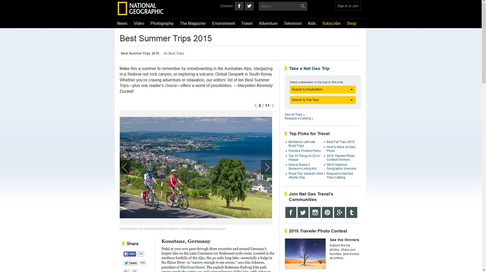 National Geographic-Best Summer Trips 2015