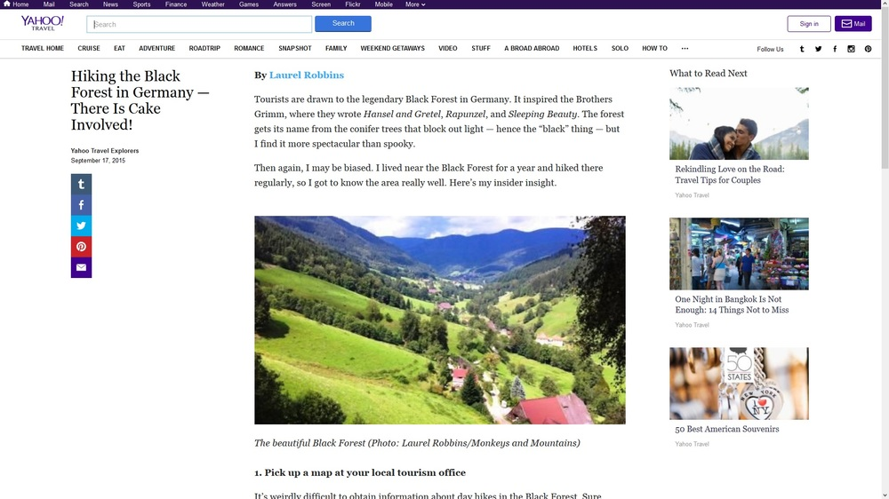 Yahoo! Travel-Hiking the Black Forest in Germany — There Is Cake Involved!