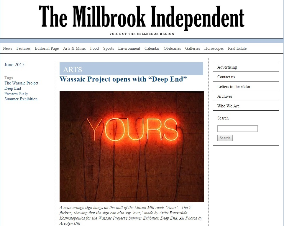 "The Millbrook Independent-Wassaic Project opens with ""Deep End"""